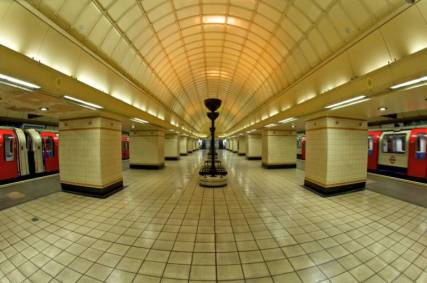 [UNVERIFIED CONTENT] A fisheye shot of Gants Hill Station.