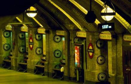 Baker Street subway station.