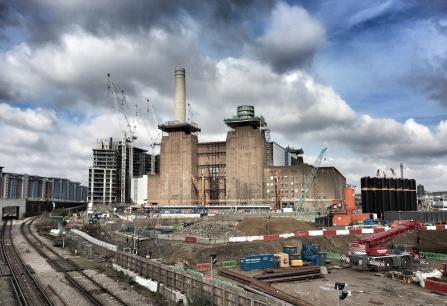 Country: United Kingdom Site: Battersea Power Station Caption: Chimneys being removed Image Date: February 14, 2016 Photographer: John Darlington/World Monuments Fund Provenance: Site Visit Original: email from Ariana McSweeney