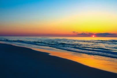 Atlantic sunrise over the peaceful Assateague National Seashore
